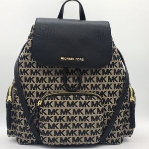 MICHAEL KORS ABBEY LG CARGO BACKPACK BG/BLK/BLK